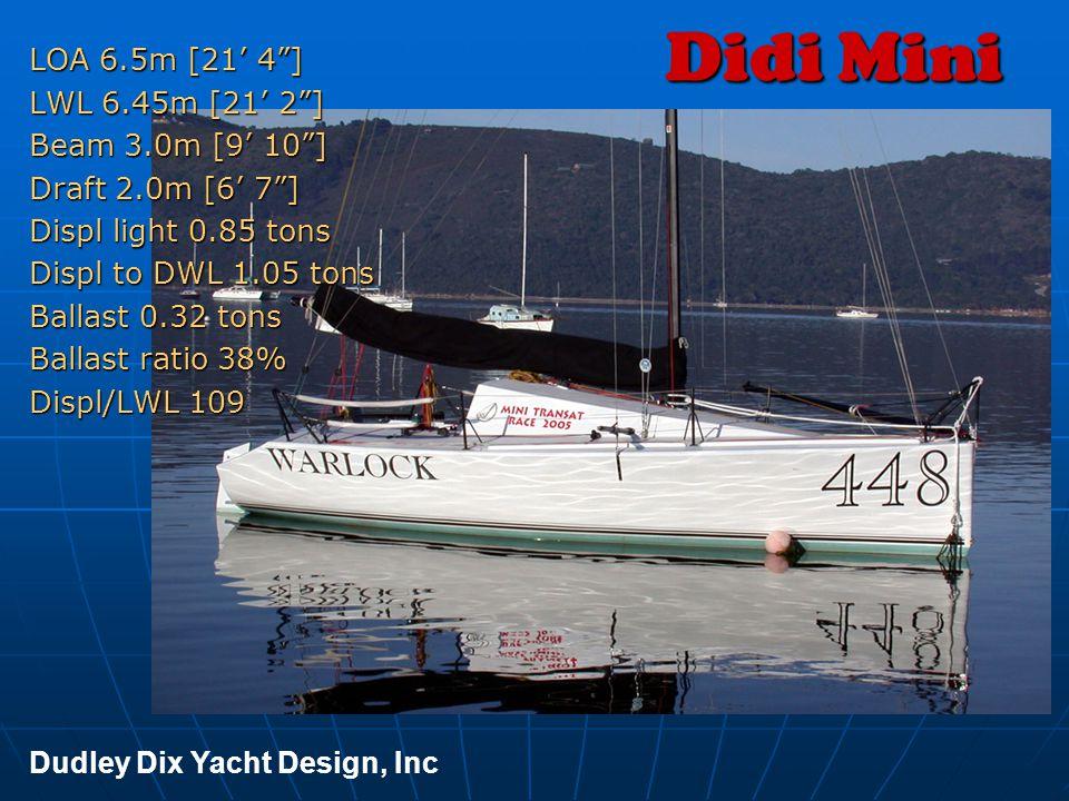 Didi Mini LOA 6.5m [21' 4 ] LWL 6.45m [21' 2 ] Beam 3.0m [9' 10 ]
